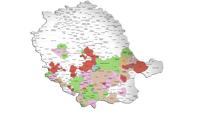 Pico carte du Tarn des communes répertoriées dans la base de connées actes.histogen81