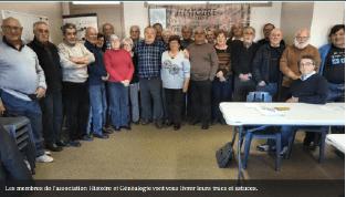 Photo adhérents et membres de l'association Histoire et Généalogie de Castres
